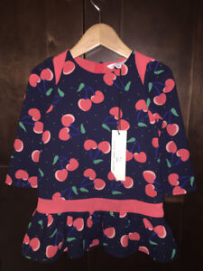 New Little Marc Jacobs Baby Girls' Allover Cherry Printed Dress