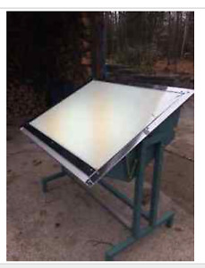 Classic Professional Drafting Light Table - Rare