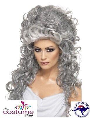 LADIES Evil Queen Halloween Witch WIG Fancy Dress Costume Beehive Long - Halloween Queen Hair