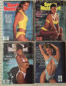SPORTS ILLUSTRATED 4 vintage Swimsuit Issues, 1989-1993