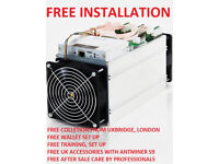 UK Stock/Antminer S9 13.5TH/s APW3+PSU-Bitmain-Free Installation, Collection from WEST LONDON