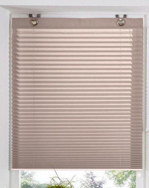 Plissee 130 Cm Breit : plissee klemmfix raffrollo taupe klemmrollo oesenrollo ~ Watch28wear.com Haus und Dekorationen