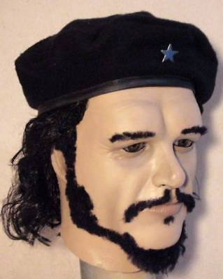 Halloween Cuba (CHE GUEVARA LATEX MASK Costume Prop Halloween Cuba Cosplay Life Size - NOT)