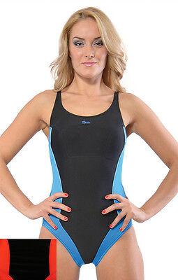 SPIN einteiliger Damen Badeanzug Schwimmanzug Badekostüm - Einteiler Schwimmen Kostüm