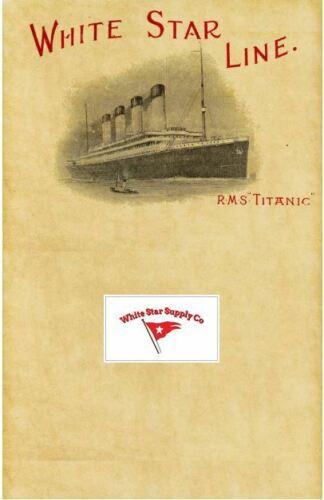 NEW ITEM!!!  White Star Line Titanic Letterhead, pkg of 10 sheets