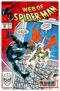 Web of Spiderman Vol.I Issue #36 (1987) Marvel 1st Tombstone