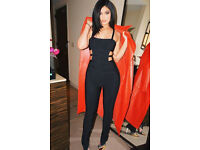 brand new KYLIE JENNER style black caged jumpsuit 10/12