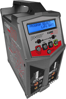 Rc Plus Cube 80 Duo Charger AC-DC LiPo/NiMh Ladegerät 2x 7A/2x 80Watt RC-CHA-211