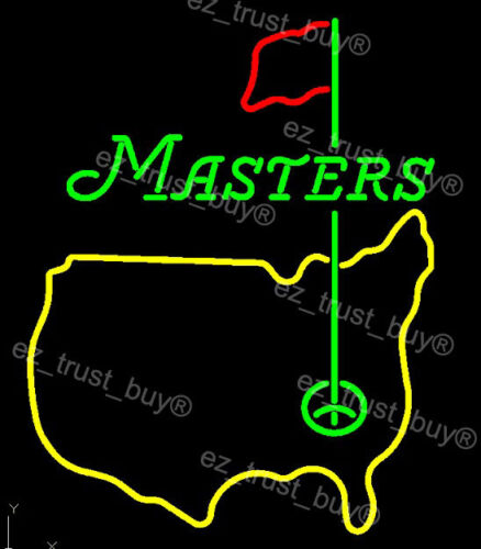 "New Masters Tournament Golf US Light Lamp Neon Sign 24""x20"""