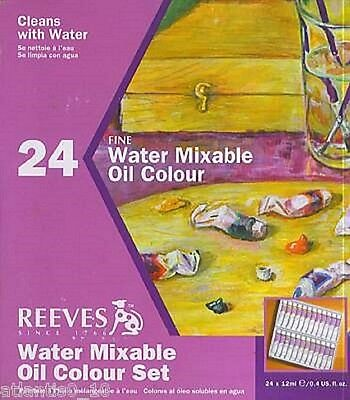 24er Set Reeves Wassermischbare Ölfarben