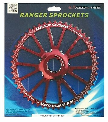 New Response MTB Sprocket 52T for Shimano 11 speed, Red
