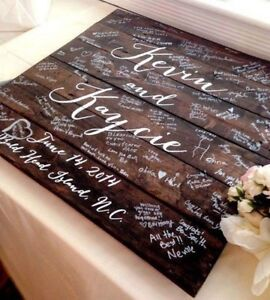 Personalized wedding or grad guestbook
