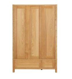 M&S Sanoma Triple solid Oak wardrobe