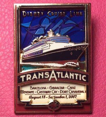 503293a8376ba DISNEY PIN - Transatlantic West Bound 2007 Logo Cruise Line Ship DCL LE -  New