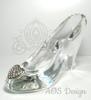 Cinderella Glass Slipper .925 Silver Heart Buckle with Swarovski Crystals