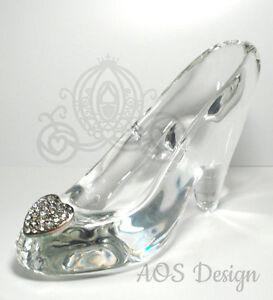 034f3320ff50e Cinderella Glass Slipper .925 Silver Heart Buckle with Swarovski Crystals