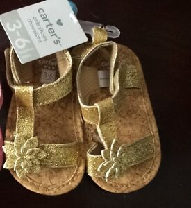 Carters NWT size 3-6 mth sandals & joe fresh shoes size 2