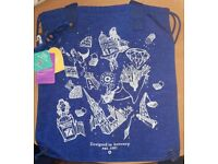 Kipling Hiphurray Anniversary Edition Tote Bag - Blue & White BNWT & Charm