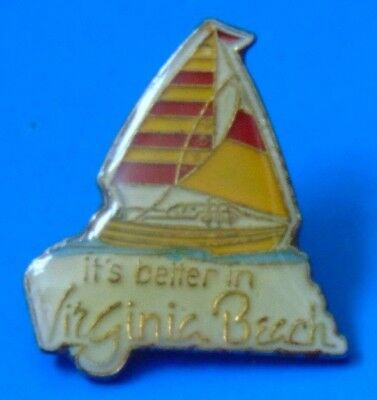 It's Better in Virginia Beach USA Pin Lapel Sail Boat