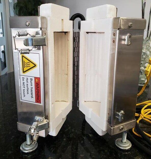 APPLIED TEST SYSTEMS Series 3210 SPLIT CUBE FURNACE 400°C W/ WATLOW CONTROLLER