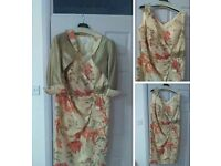 REDUCED FOR A QUICK SALE!John Charles mother of the bride outfit green/coral to fit size 18 lady