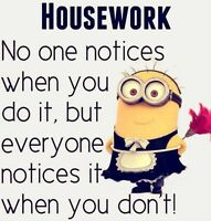 Housekeeper for hire!,,