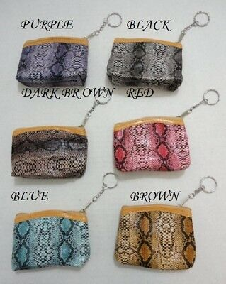BRAND NEW SNAKE SKIN LOOK KEY CHAIN CHANGE / COIN PURSE , FREE SHIPPING - Keychain Coin Purse