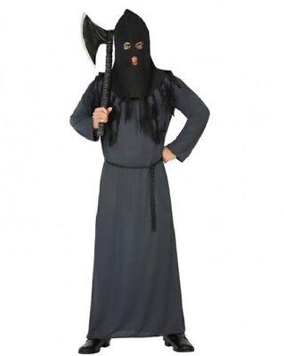 Déguisement Homme BOURREAU Gris Noir XL Costume Adulte Halloween Médiéval NEUF - Deguisement Adulte Halloween Homme