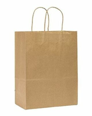 Rope Handle Paper Shopping Bags Missy 10x5x13 Natural Kraft 250case