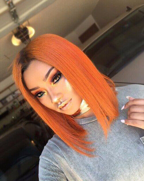 Women Short Lace Front Wig Synthetic Wig Full Wigs 1B ...