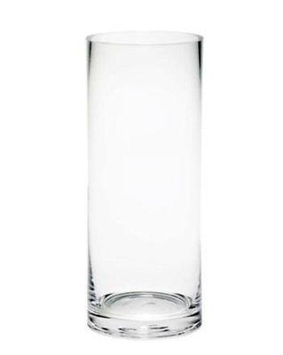 Vaso Cilindrico Cilindro In Vetro Trasparente Altezza 30cm Diametro 10cm sus
