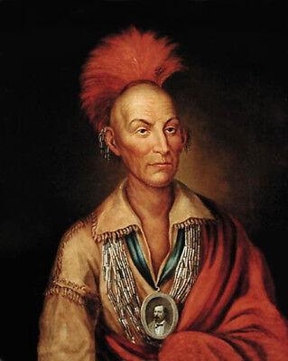 Native American Sauk Leader CHIEF BLACK HAWK Glossy 8x10 Photo Painting Print