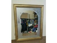 VINTAGE STYLE ETCHED / FROSTED MIRROR