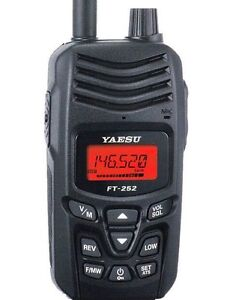 Yaesu FT-252 VHF 2 Meter 5W FM 136-174Mhz Handheld Portable 2-way walkie radio