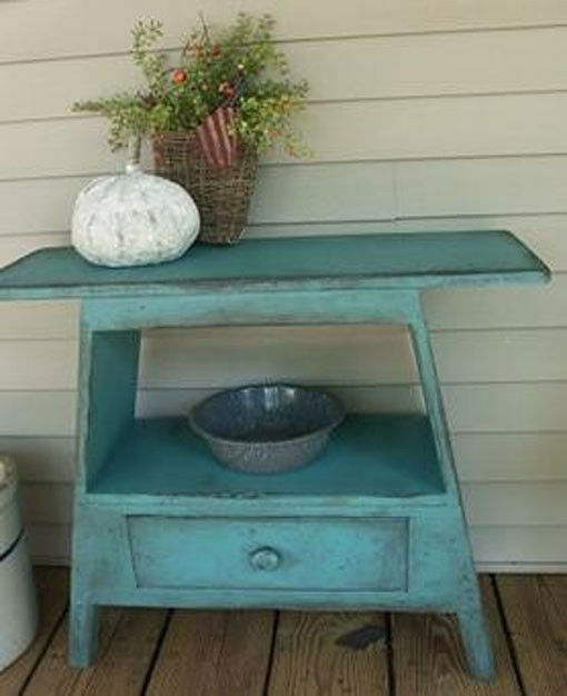 Primitive Yankee Washstand Bench PATTERN PLAN WN158