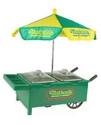 Very Rare New Nathans Hot Dog Cart Mini Hot Dog Steamer Cooker