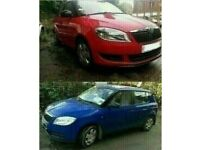 2010 SKODA FABIA 1.2 PETROL CGP RED AND BLUE BREAKING FOR PARTS