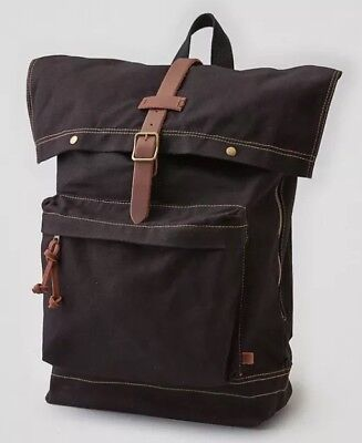 AMERICAN EAGLE OUTFITTERS CANVAS RUCKSACK - BLACK BRAND NEW WITH TAG