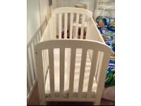 Baby's Cot with mattress. Perfect condition