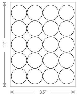 10 Sheets White Laser Inkjet 2 Round Candle Circular Jar Labels 20-up