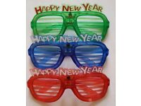 Wholesale-Resellers-24 X Flashing LED Happy New Year Glasses Xmas Party