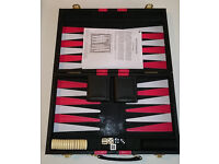 Used Backgammon board game - travel set