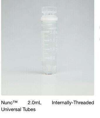 Thermo Scientific Storage Tubes. Nunc 2.0ml Internal-thread Uncoded Cryogenic