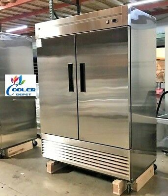 New 55 X 33 X 81 Two Door Upright Freezercommercial Reach In Model 55f Nsf 2