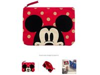 Cath Kidston Limited Edition Mickey and Minnie Mouse Bag Pouch BNWT and original packaging