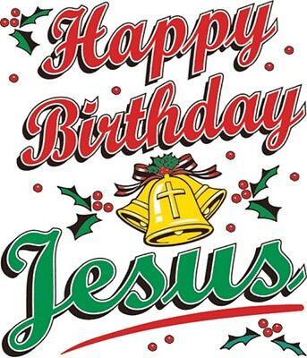 Happy Birthday Religious (Happy Birthday Jesus Shirt, Religious Christmas Shirt, Christian, Sm -)