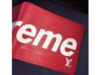 SUPREME x LV Louis Vuitton Wallet Red RARE
