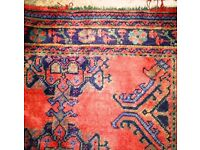 Handmade Large traditional low pile Turkish rug £150