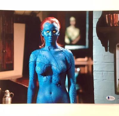 Jennifer Lawrence Autograph Signed X Men Mystique 11X14 Photo W  Bas Beckett Coa