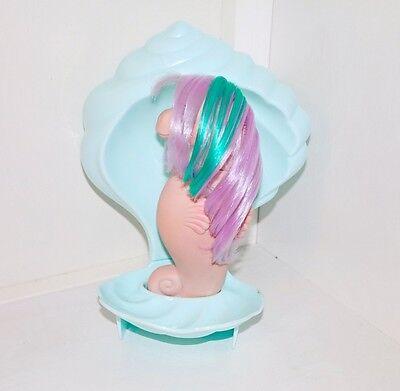 My Little Pony Custom Blue Sea Shell Conch G1 Seashell Tyco Mermaid Display - Mermaid Customes
